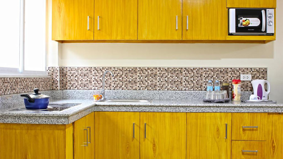 Laciaville Resort and Hotel- Cebu Airport- Accommodation Deluxe Apartment Kitchen Room