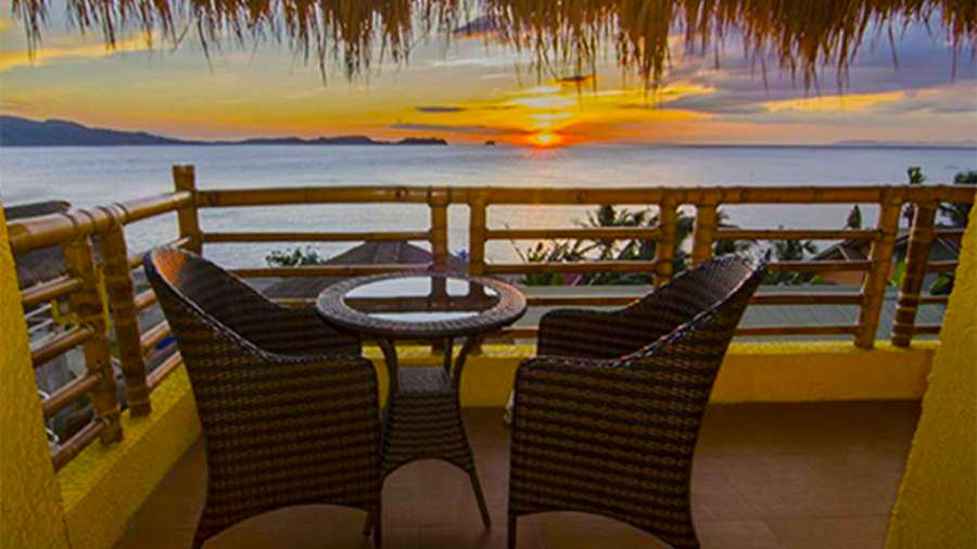 Eagle Point Beach and Dive Resort- Batangas- Balcony terrace beach front View