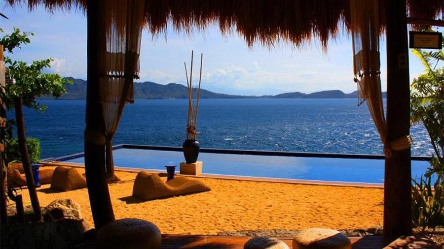 Vivere Azure Resort- Batangas- Swimming beach front view