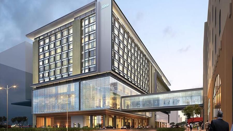 Hilton Manila - Hotel Front View