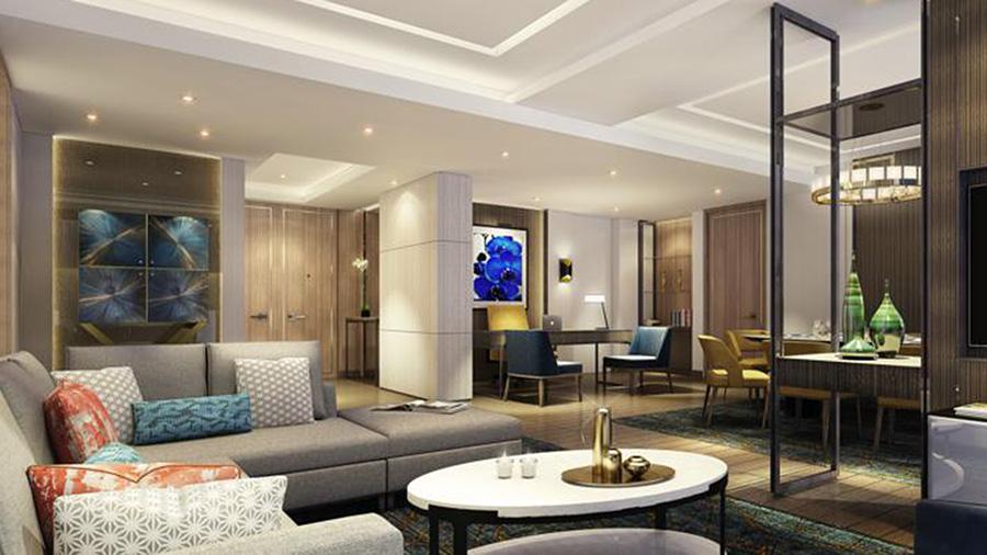 Hilton Manila-Living Room