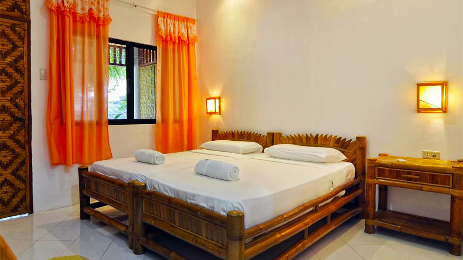 Malapascua Exotic Island Dive & Beach Resort- Accommodation Bed Room-Cebu