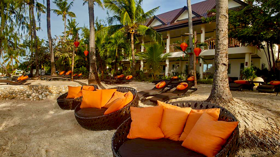 Ocean Vida Resort- Beach Front relaxing spots View- Malapascua cebu