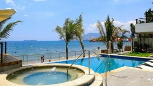 iCove Beach Hotel-Subic Bay- Beach and Swimming pool View